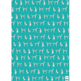 cc738 | Dalmatiner - Geschenkpapier Bogen 50 x 70 cm