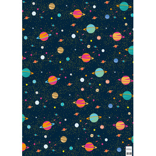 cc739 | cosmos - wrapping paper Bogen 50 x 70 cm