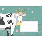 cc625 | crissXcross |  flower cow - Envelope set C6