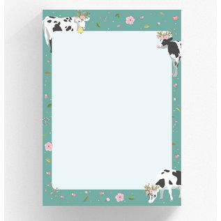 cc525 | crissXcross |  flower cow - notepad DIN A5
