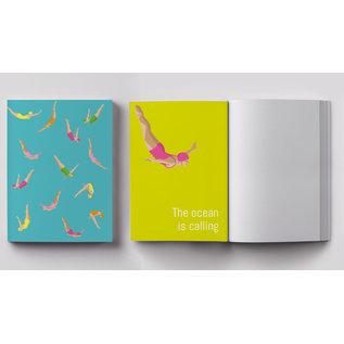cc403   crissXcross   jumping woman - notebook DIN A5