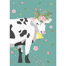 cc409 | crissXcross | flower cow - notebook DIN A5