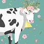 cc409 | crissXcross | flower cow - notebook DIN A5