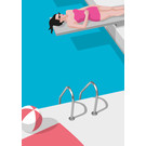 ma801 | Modern Art |  pool - ArtPrint DIN A4