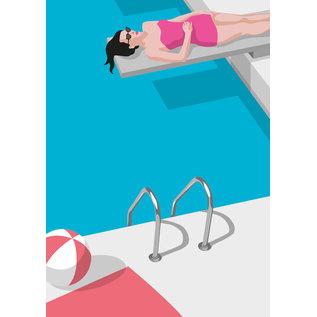 ma801 | Modern Art |  pool - ArtPrint DIN A4