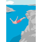 ma807 | Modern Art | cliff jumper - ArtPrint DIN A4