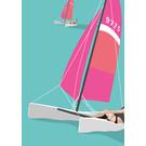 ma808 | Modern Art | catamaran - ArtPrint DIN A4