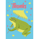 ha020 | happiness | frog - postcard A6