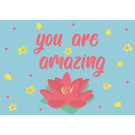 ha021 | happiness | you are amazing - Postkarte A6