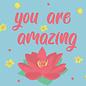 ha021 | happiness | you are amazing - Postkarte A6