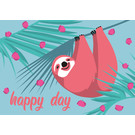 ha022 | happiness | sloth - postcard A6