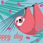 ha022 | happiness | sloth - postcard A6