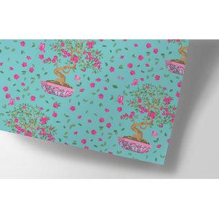 ha708 | happiness | Bonsai - Geschenkpapier Bogen 50 x 70 cm