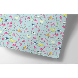 ha709   happiness   birds - wrapping paper Bogen 50 x 70 cm