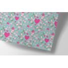 ha710 | happiness | hearts and flowers - wrapping paper Bogen 50 x 70 cm