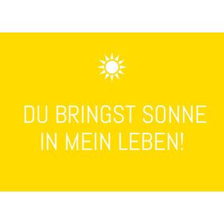 ws077   Wortsinn   Du bringst Sonne in...  - postcard A6