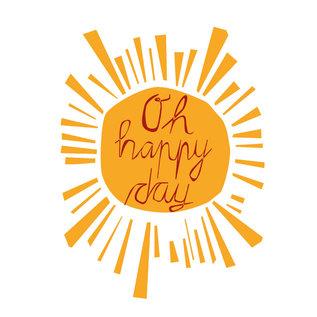 FZYP013 |  You've Got Post | Oh happy day - Postkarte  A6