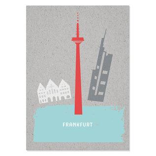 FZGC022 |  Grey-Code | Frankfurt - Holzschliffpappe A6