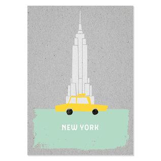 FZGC020 |  Gray-Code | New York - Holzschliffpappe A6
