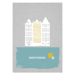 FZGC016    Gray-Code   Amsterdam - Holzschliffpappe A6