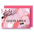 FZ-KK-37707 |  Klare Kante | Good Vibes Only - wood pulp card A6