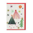 FZ-X-51701 |  Xmas Cards | Three Trees - folding card A6