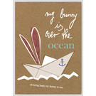 FZTO013    Time Out   My bunny lies over the ocean - wood pulp cardboard A6