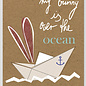 FZTO013 |  Time Out | My bunny lies over the ocean - wood pulp cardboard A6