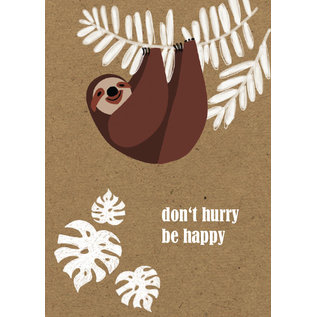 FZTO017 |  Time Out | Don't hurry, be happy - wood pulp cardboard A6