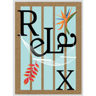 FZTO009    Time Out   Relax - wood pulp cardboard A6