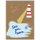 FZTO006    Time Out   Sea you soon - wood pulp cardboard A6