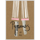 FZ-TO-67015    Time Out   Pyjamas all day - wood pulp cardboard A6