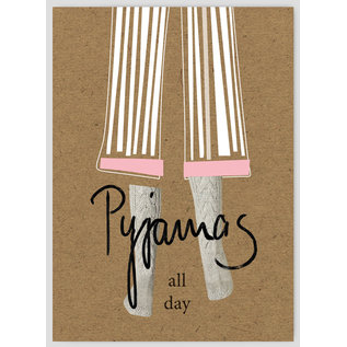 FZTO015 |  Time Out | Pyjamas all day - wood pulp cardboard A6