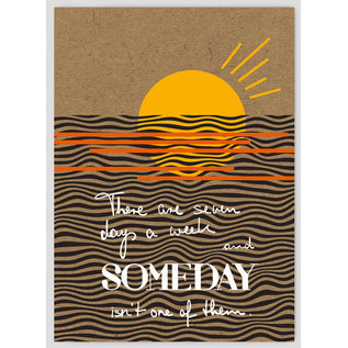 FZTO001    Time Out   Someday - wood pulp cardboard A6