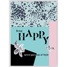 FZSW015 |  Style For A While | Being HAPPY never goes out of style - Holzschliffpappe A6