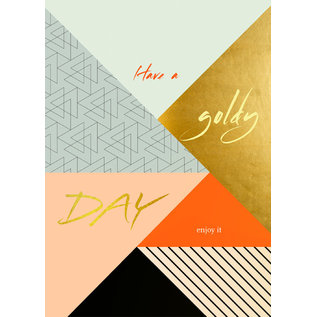 FZSW008 |  Style For A While | Have A Goldy Day - wood pulp cardboard A6