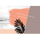 FZ-L-18805 |  Love & Peace | Grow through what you go through - Postkarte  A6