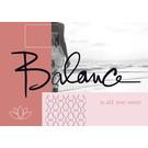 FZ-L-18803 |  Love & Peace | Balance is all you need - Postkarte  A6
