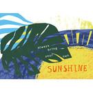 FZ-K-17704 |  Karma Is A Bitch | Always bring your own sunshine - Postkarte  A6