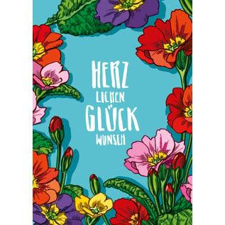 IL0246   illi   Primula Glückwunsch - PostCard A6