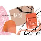 FZ-K-17701 |  Karma Is A Bitch | Sometimes you win, sometimes you learn - Postkarte  A6