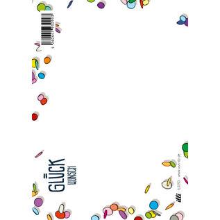 IL0253   illi   Konfetti - Glückwunsch - Postkarte A6