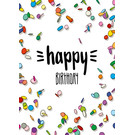 IL0254 | illi | Konfetti - Happy Birthday - Postkarte A6