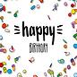 IL0254   illi   Konfetti - Happy Birthday - Postkarte A6