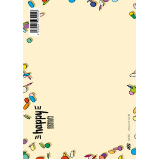 IL0254 | illi | Konfetti - Happy Birthday - Post Card A6