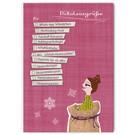 FZYPX10 |  Xmas Karten | Nikolausgrüße für Mädels - Postkarte  A6