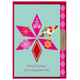 FZLB020 |  Xmas Karten | Merry Christmas and a happy new Year - Klappkarte A6