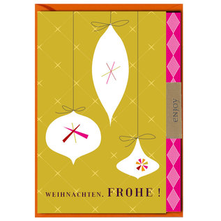 FZLB021    Xmas Karten   Weihnachten. Frohe! - Klappkarte A6