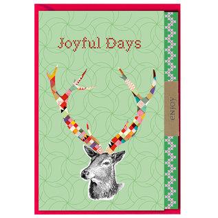 FZLB023    Xmas Karten   Joyful Days - Klappkarte A6