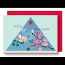 Xmas Karten Mit Umschlag FZ-X-37703 |  Xmas Karten | Frohe Weihnachten - Holzschliffpappe A6